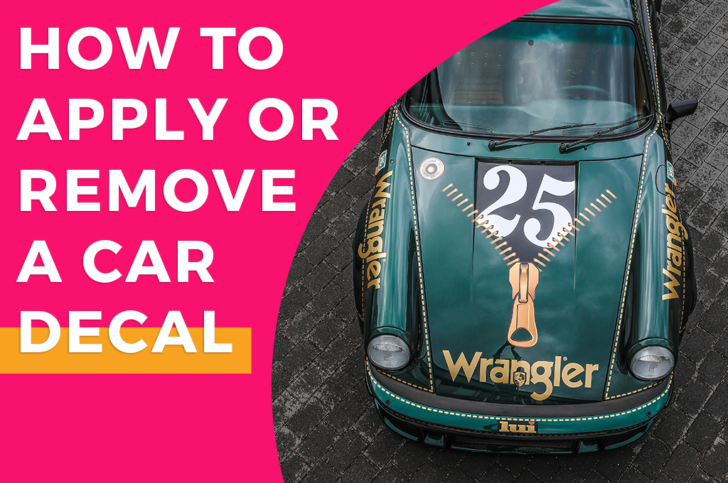 How to apply or remove a car decal