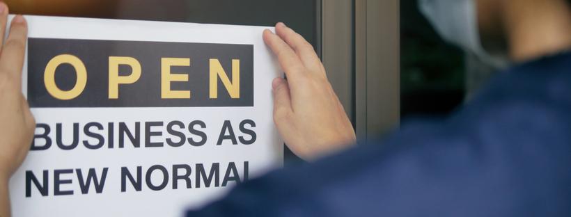 Front door shop sign