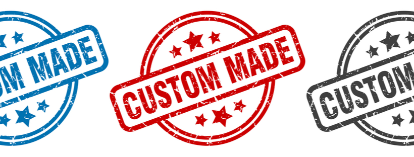 Classic style ' Custom Made' sticker