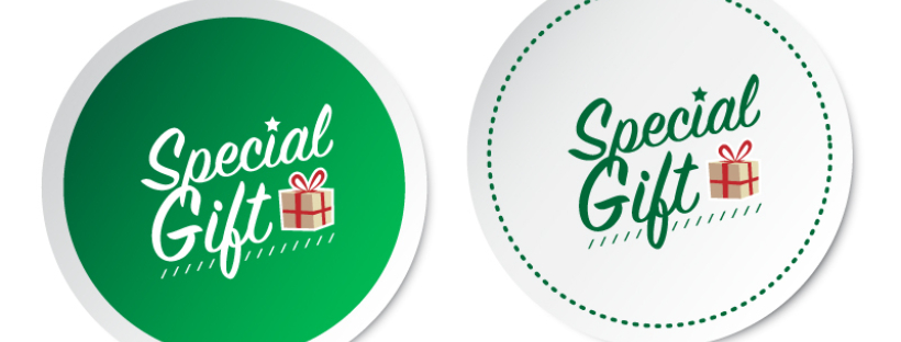 'Special Gift' round stickers